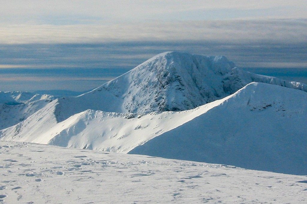 The avalanche risk on Ben Nevis was rated considerable. Photo: Bob Smith/grough