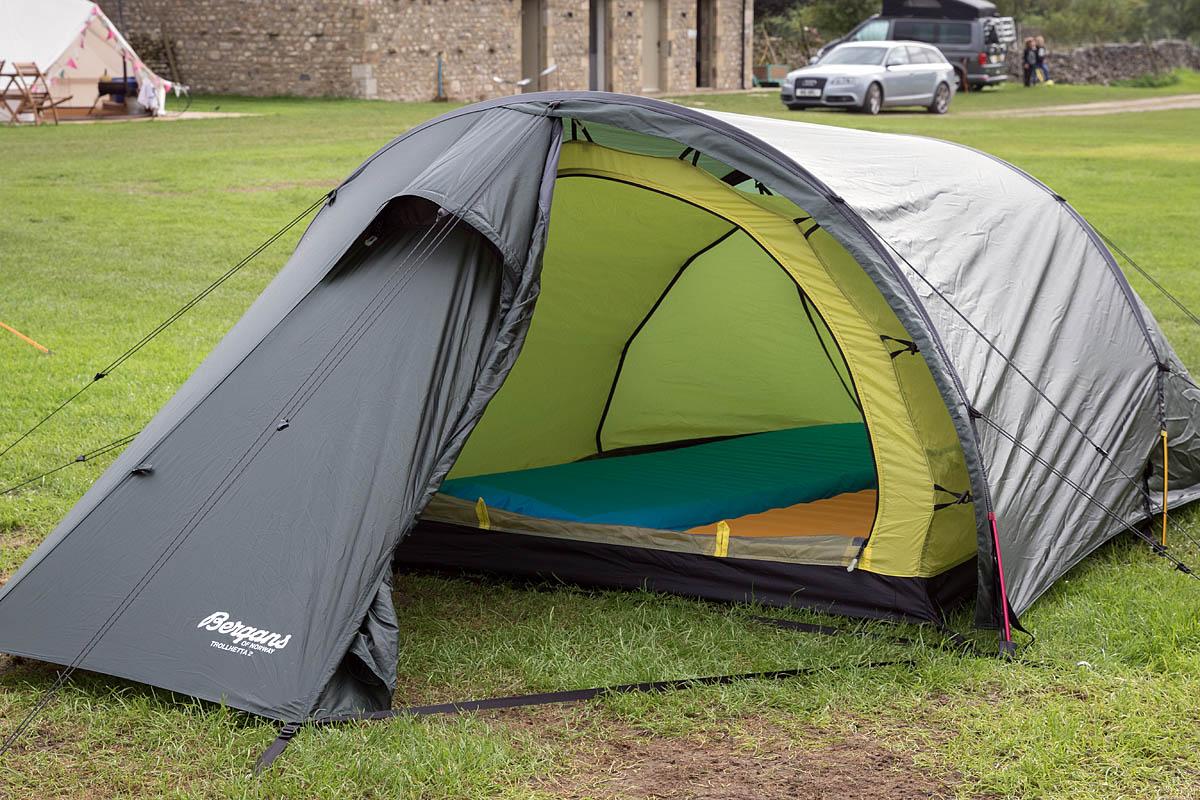 The Trollhetta 2 has a good porch. Photo Bob Smith/grough & grough u2014 On test: lightweight tents reviewed