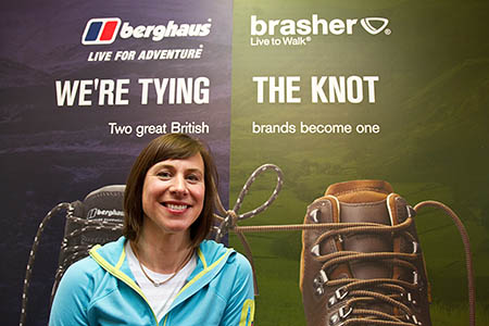 4aa52183717e Berghaus head of marketing Caroline Smith announces the brand change for  brasher boots