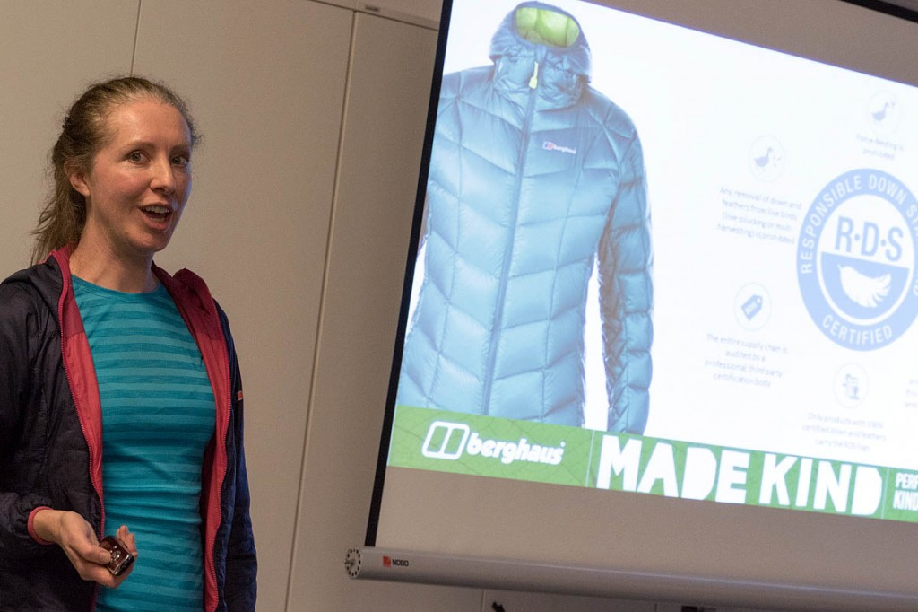 Berghaus corporate sustainability officer Elaine Gardiner