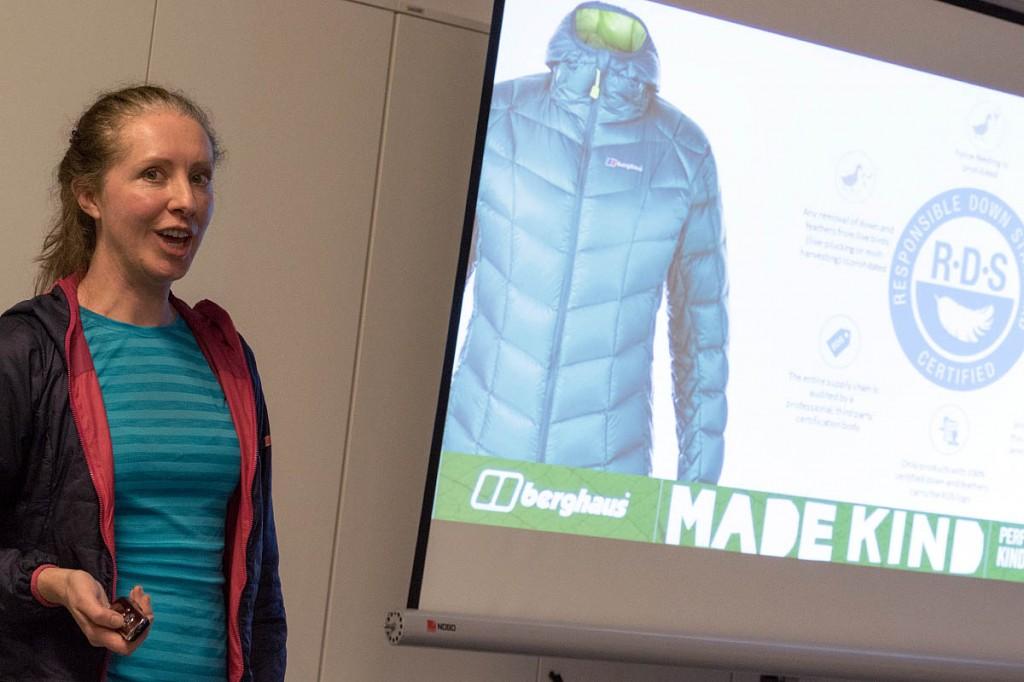 Berghaus corporate sustainability officer Elaine Gardiner