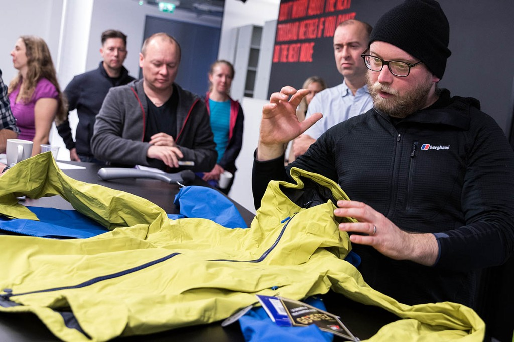 Berghaus Extrem category manager Paul Cosgrove explains the features of the Extrem 8000 Pro and 7000 Pro jackets