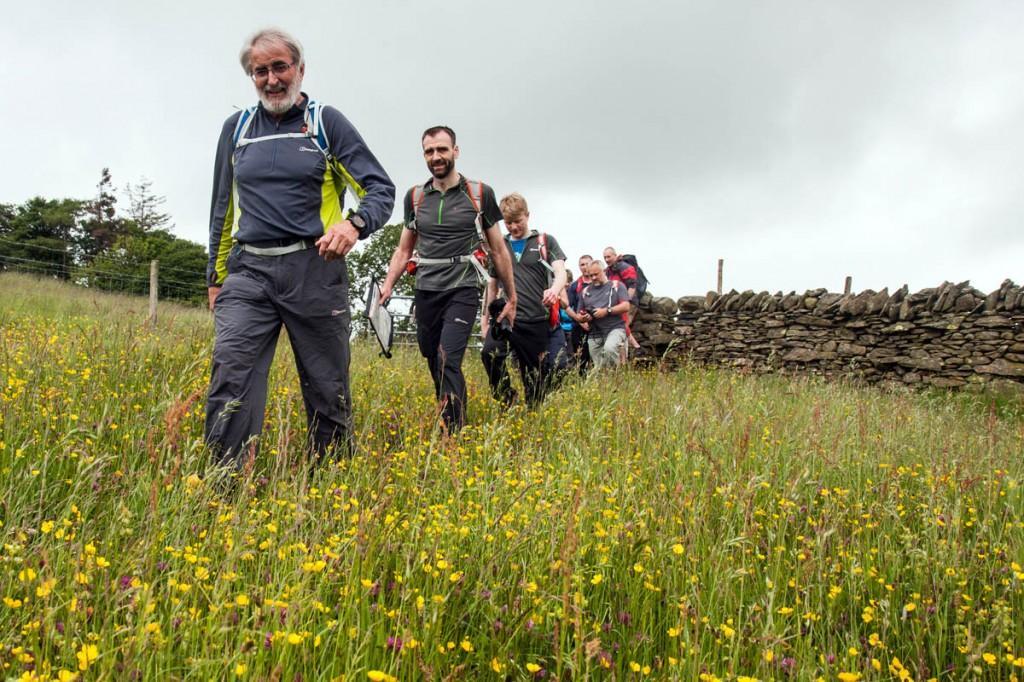 Jon Gale leads a walk for Berghaus in Cumbria