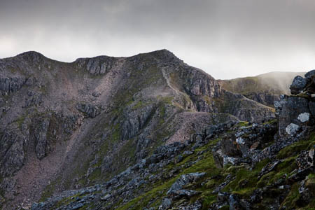 The route to Bidean nam Bian is obvious in good visibility, but will require care in mist