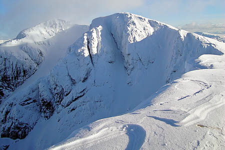 Bidean nam Bian, scene of the avalanche in Central Butress. Photo: Simon McElroy CC-BY-SA-2.0