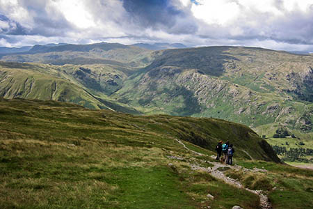 The team led the runner down the path on the east side of Nethermost Pike