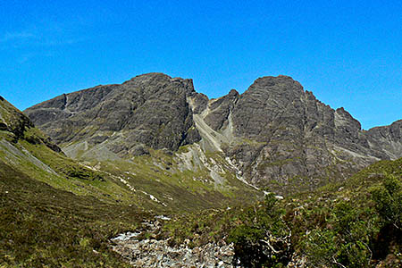 Blàbheinn is one of the most accessible peaks in the Cuillin. Photo: Nick Bramhall CC-BY-SA-2.0