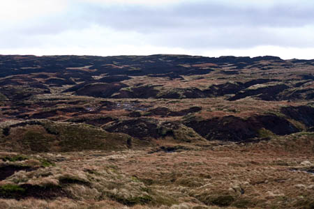 The summit plateau of Bleaklow: difficult navigating in poor conditions
