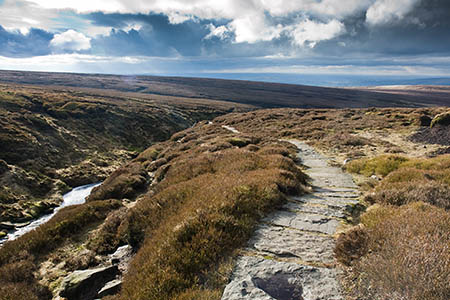 The walker was airlifted from the top of Wildboar Grain on Bleaklow
