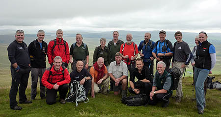 The group pauses for a picture during the walk. Photo: Yorkshire Dales National Park Authority