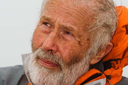 Sir Chris Bonington took the Olympic torch to the summit of Snowdon in May