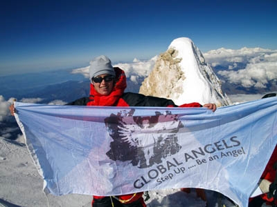 Bonita Norris during her ascent of Manaslu last year