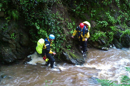 Borders Search and Rescue Unit members in action