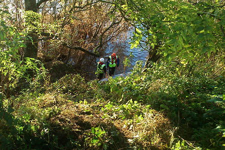 Dense vegetation made for a tricky search for the Border Search and Rescue Unit members. Photo: BSARU