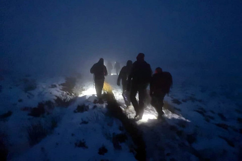 Team members during the search on Fair Snape Fell. Photo: Bowland Pennine MRT