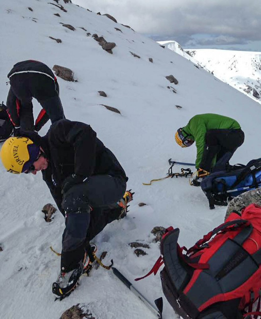 Rescuers gear up for today's search. Photo: Braemar MRT