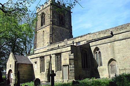 Brailsford Church, scene of the rescue. Photo: Clive Woolliscroft CC-BY-SA-2.0
