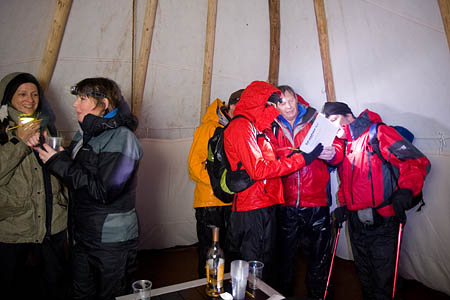 A stop-off for a glass of single malt in a teepee was a highlight of the two-hour boot test