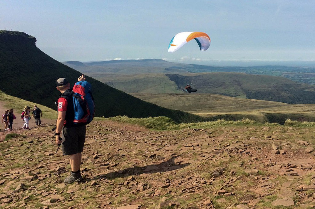 The paraglider seen before his crash. Photo: Brecon MRT