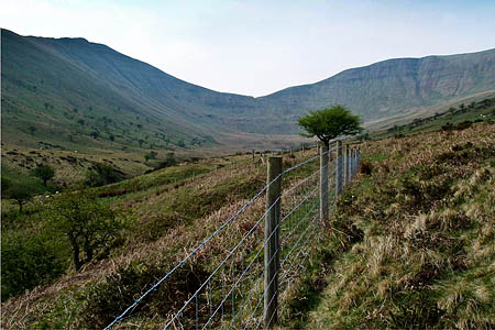 The unlawful fence in the Brecon Beacons. Photo: Sîon Brackenbury