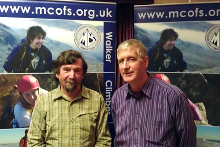 Chris Townsend with new MCofS president Brian Linington. Photo: Mike Dales