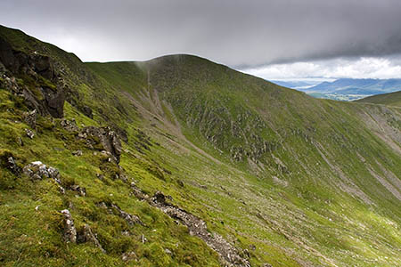 The walkers reported they were 'stuck' in high winds on Helvellyn Lower Man