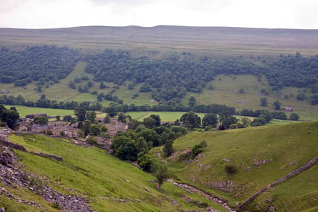 Buckden, intended destination of the trio of walkers