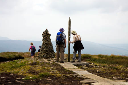The summit of Buckden Pike, on Mr Butler's itinerary