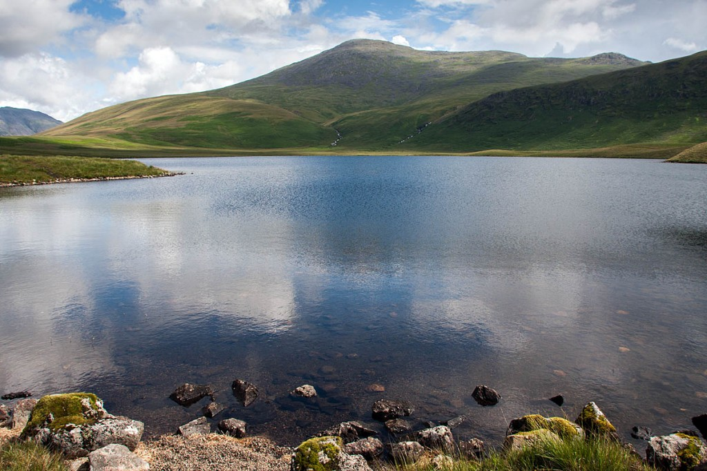 An injured walker was airlifted from the site near Burnmoor Tarn