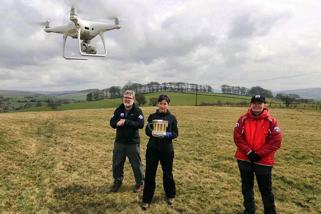 Team members have CAA approval to use drones in searches. Photo: Buxton MRT