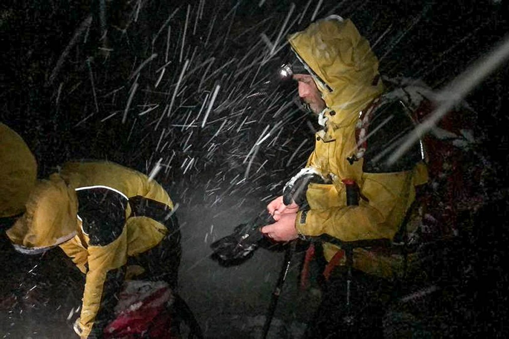 Rescuers had to make their way to the summit of the mountain in blizzard conditions. Photo: Cairngorm MRT