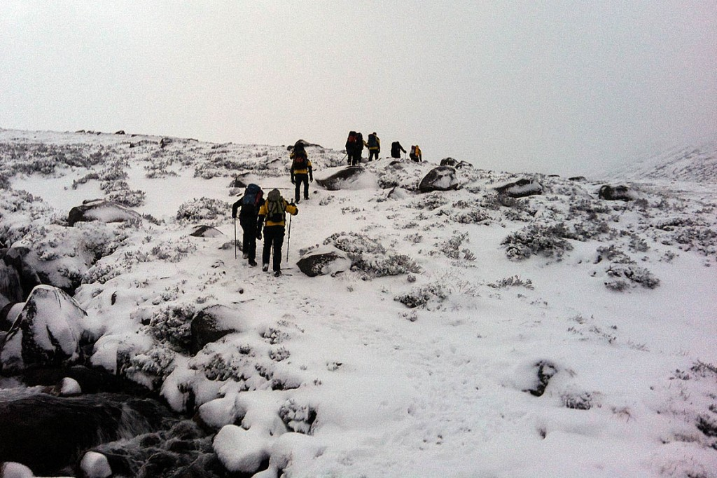 The rescue team found the couple south-east of the mountain summit. Photo: Cairngorm MRT