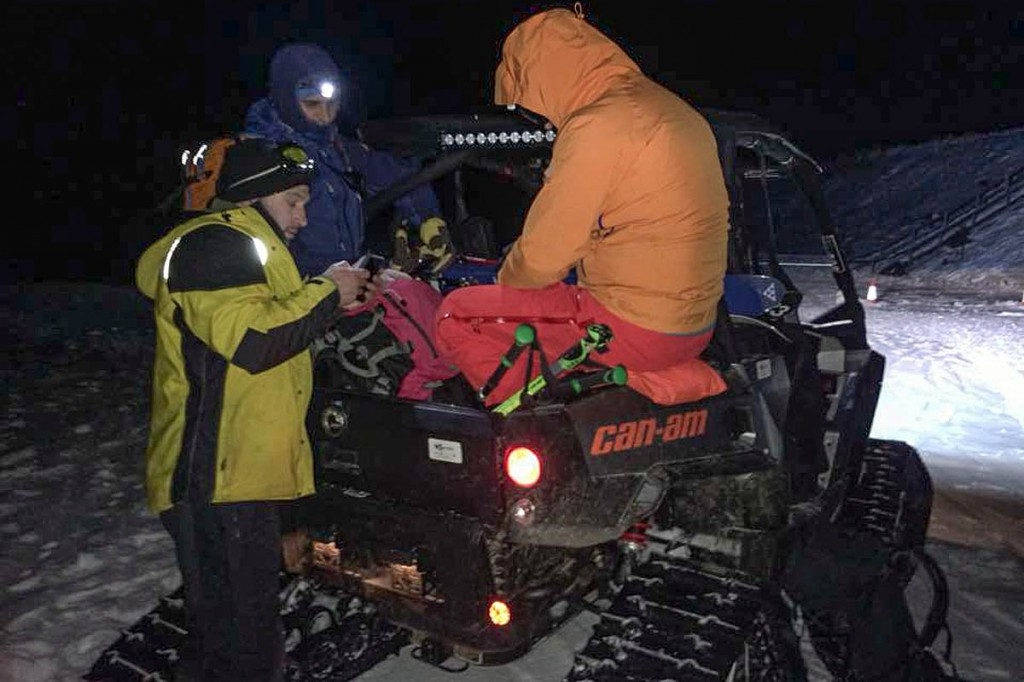 Rescuers used their tracked all-terrain vehicle to reach the summit of Cairn Gorm. Photo: Cairngorm MRT
