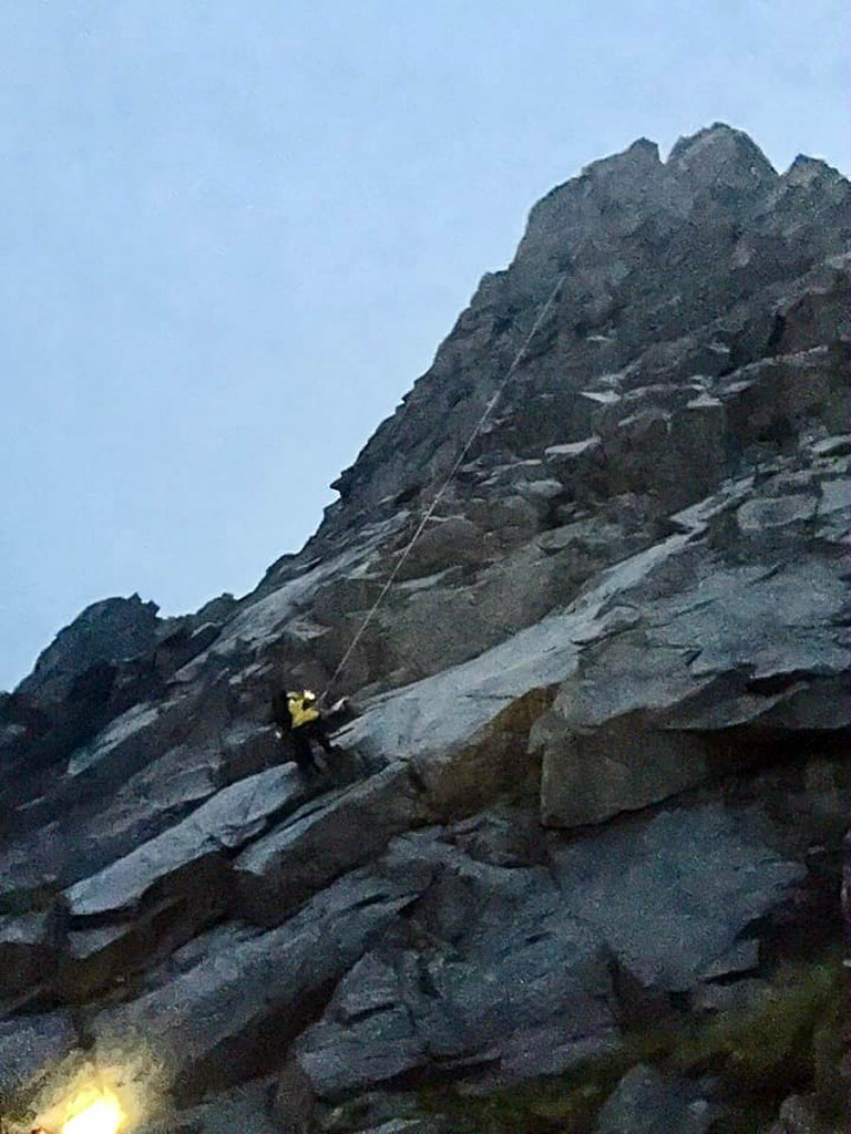 Shelter Stone Crag has some of the longest climbing routes in Scotland. Photo: Cairngorm MRT