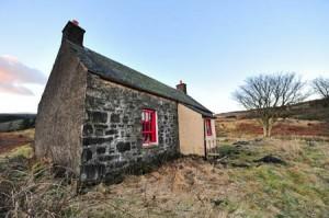Shiel of Castlemaddy bothy. Photo: APJarrott/Forestry Commission Scotland