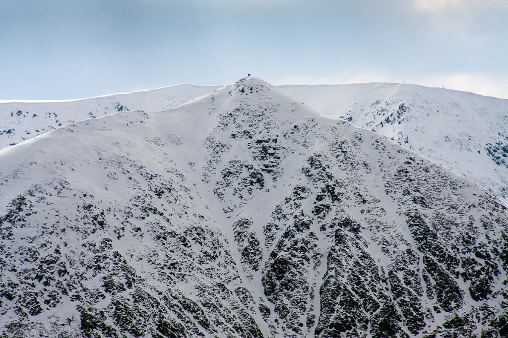 The walker got stuck on Catstye Cam in wintry conditions. Photo: Bob Smith/grough