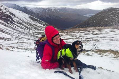 Bonnie recovered after consuming a bacon sandwich. Photo: Patterdale MRT