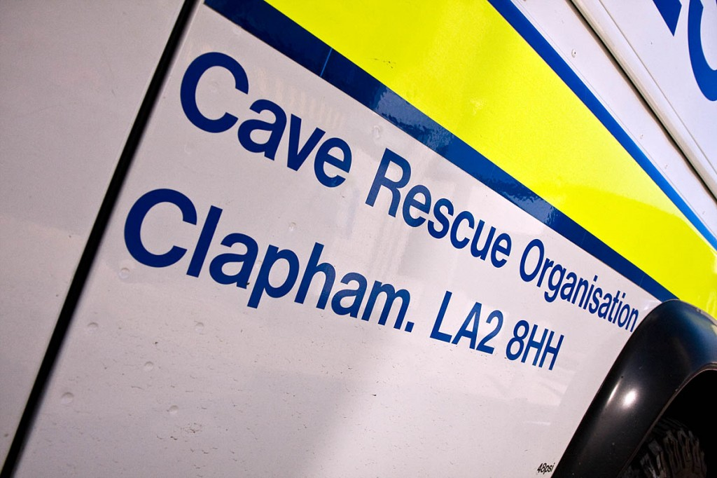 Cave Rescue Organisation members carried the climber's body from the crag