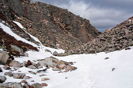 The avalanche happened in the Chalmain Gap, a 700m-high pass in the Cairngorms. Photo: Angus CC-BY-SA-2.0