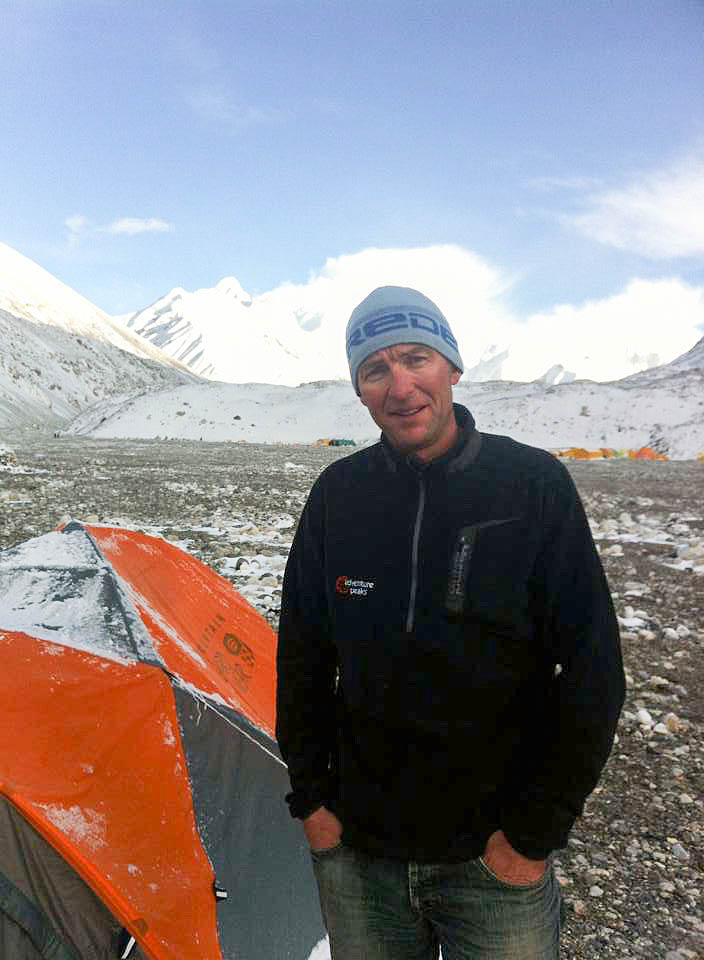 Chris Harling at Base Camp