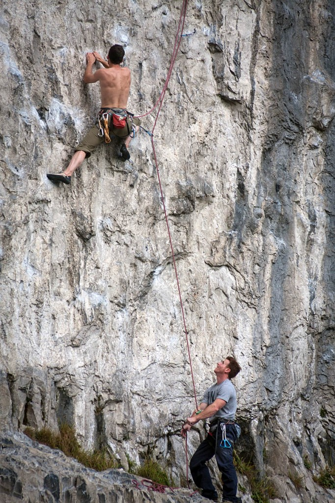Climbers on Malham Cove in the Yorkshire Dales. Photo: Bob Smith/grough