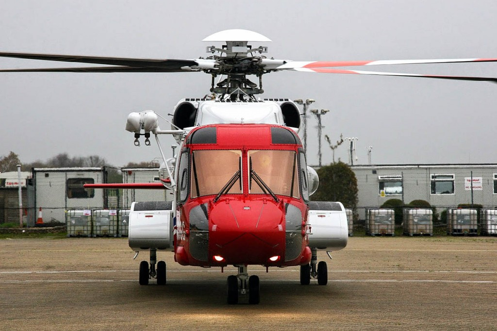 The laser was shone at a Coastguard Sikorsky S-92 helicopter. Photo: MCA