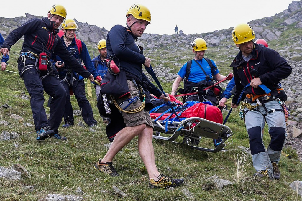 The team in action during a rescue. Photo: Cockermouth MRT
