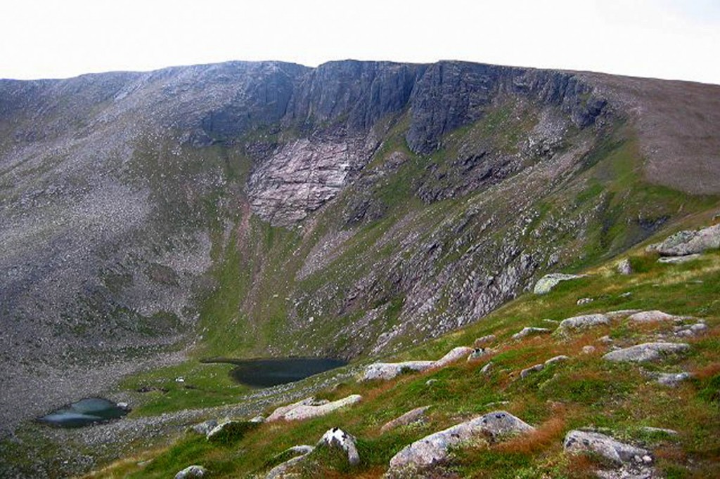 Coire an Lochain, scene of the rescue. Photo: Richard Webb CC-BY-SA-2.0