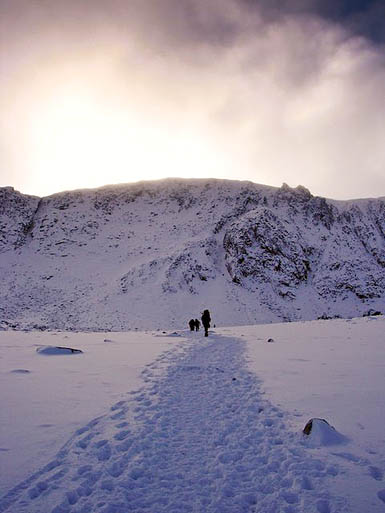 The climber was airlifted from Coire an t-Sneachda after the fall. Photo: Iain Lees CC-BY-SA-2.0
