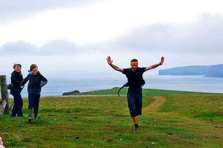 Colin Meek completes his challenge at Duncansby Head
