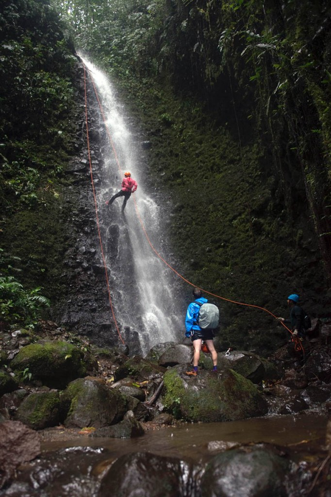 Directors of toughness test Columbia gear in Ecuador