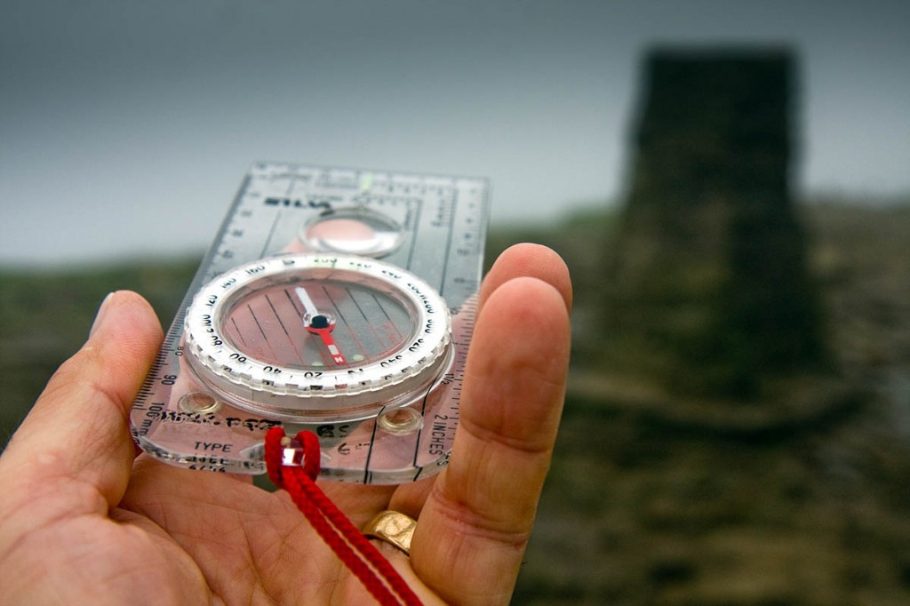 A compass and the ability to use it are essential in poor visibility