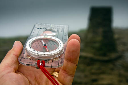 A compass, normally a walker's friend, can lead hillgoers astray