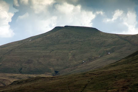 The paraglider crashed near Corn Du in the Brecon Beacons